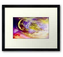 Ribbon In the Sky-  Art + Products Design  Framed Print