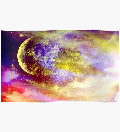 Ribbon In the Sky-  Art + Products Design  Poster