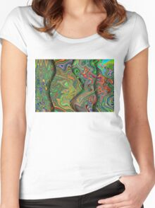Paisley Tide Women's Fitted Scoop T-Shirt
