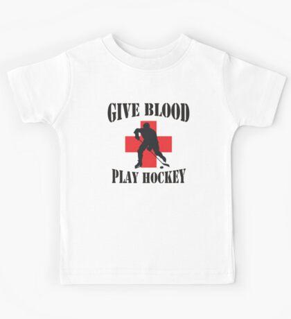 Give Blood Play Hockey Kids Tee