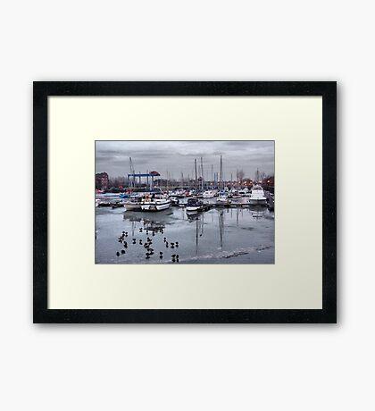 Preston Dock  Framed Print