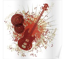 Music Poster with Guitar 6 Poster