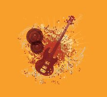 Music Poster with Guitar 6 Unisex T-Shirt