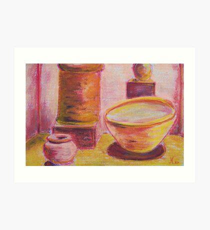 Arranged (pastel) Art Print