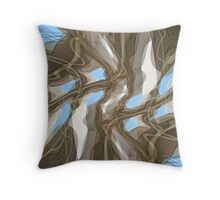 Magritte Ceiling Throw Pillow