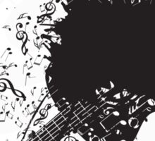 Music Poster with Guitar 7 Sticker