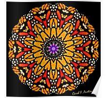 Monarch Butterfly Kaleidoscope Poster
