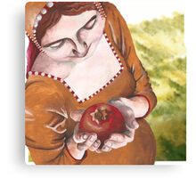 Mary and the Pomegranate Canvas Print