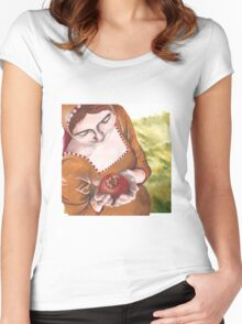 Mary and the Pomegranate Women's Fitted Scoop T-Shirt