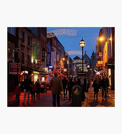 Anne Street at Christmas Photographic Print