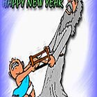 Father Time versus Baby New Year ..  Card,  by MaeBelle