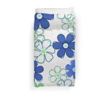 Blue and Green Floral Design Duvet Cover
