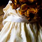 Dried Hydrangea and White Dress by Sarah Butcher