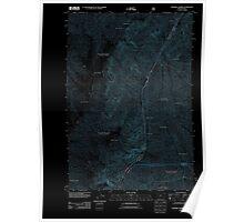 USGS Topo Map Oregon Squirrel Prairie 20110809 TM Inverted Poster