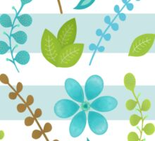 Floral Design with Stripes Sticker