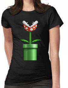 Super Mario Bros Piranha Womens Fitted T-Shirt