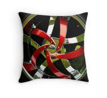 Red Rim Throw Pillow