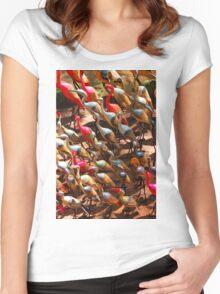Phalacrocorax carbo birds in Nairobi, Kenya Women's Fitted Scoop T-Shirt