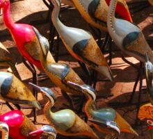 Phalacrocorax carbo birds in Nairobi, Kenya Sticker