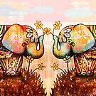 true happiness elephants by Karin  Taylor