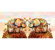 true happiness elephants Photographic Print