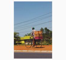 Man on a bicycle in Nairobi, KENYA T-Shirt