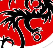 Dragon sun black red white geek funny nerd Sticker