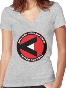 ARGUS shirt (Advanced Research Group United Support) – Arrow Women's Fitted V-Neck T-Shirt