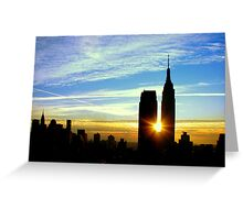 New York Sunrise Greeting Card