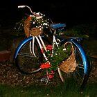 Antique Bike with Flowers by A. Kakuk