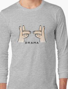 Drama llama geek funny nerd Long Sleeve T-Shirt