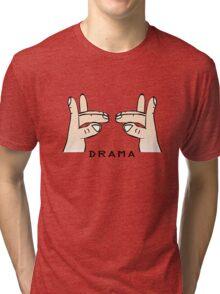 Drama llama geek funny nerd Tri-blend T-Shirt