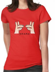 Drama llama geek funny nerd Womens Fitted T-Shirt