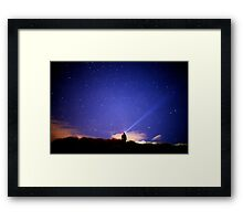 Searching the stars Framed Print