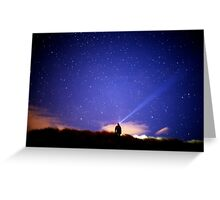 Searching the stars Greeting Card