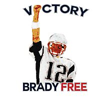 Tom Brady Deflategate Victory Photographic Print