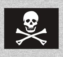 Skull And Crossbones Black Pirate Flag One Piece - Long Sleeve