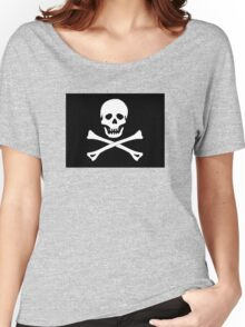 Skull And Crossbones Black Pirate Flag Women's Relaxed Fit T-Shirt