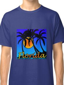 Florida palm trees sunset geek funny nerd Classic T-Shirt