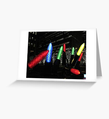Giant Christmas Lights in New York City Greeting Card