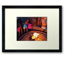 Bonfire of the Vanities Framed Print