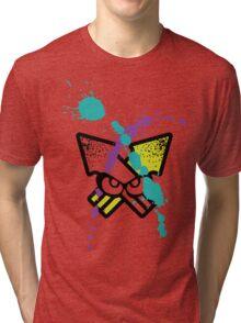 Splatoon - Turf Wars 3 [WHITE Var] Tri-blend T-Shirt