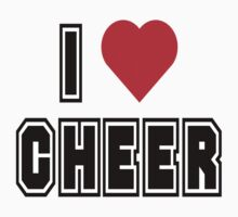 "Cheerleading ""I Love To Cheer"" by SportsT-Shirts"