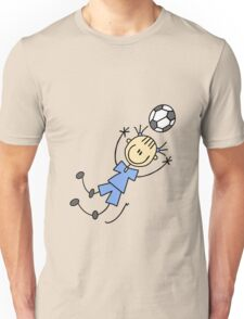 Girl blue uniform soccer player and gifts geek funny nerd Unisex T-Shirt