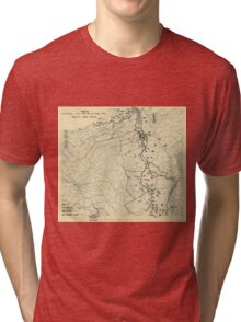 World War II Twelfth Army Group Situation Map October 18 1944 Tri-blend T-Shirt