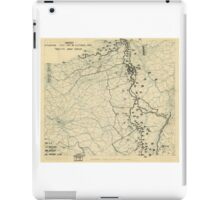 World War II Twelfth Army Group Situation Map October 18 1944 iPad Case/Skin