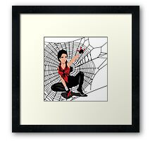 Amy Winehouse Spider Woman Framed Print