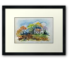 THE HOUSE OF THE FORESTER - AQUAREL Framed Print