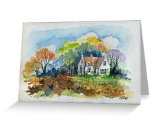 THE HOUSE OF THE FORESTER - AQUAREL Greeting Card