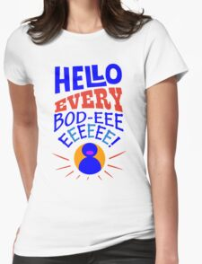 Grover hello geek funny nerd Womens Fitted T-Shirt